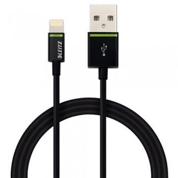 CABLE LIGHTNING APPLE A USB 1 M NEGRO COMPLETE DE LEITZ