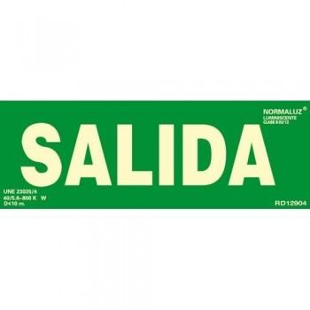 SE?AL PVC NORMALIZADA   SALIDA    FOTOLUMINISCENTE 300X105MM ARCHIVO 2000