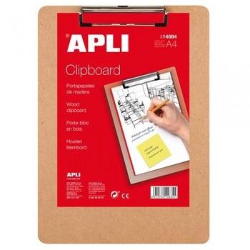 Tabla madera con pinza A4 Apli