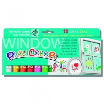 Témpera barra 10 gr estuche 12 unid. Surtido Window PlayColor One