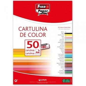 Cartulina A4 180gr. GRIS PERLA paq. 50 hojas Fixo