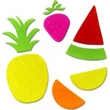 Figuras gel decorativas Frutas Fixo Kids