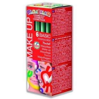 Maquillaje verde PlayColor Make Up Basic Pocket 6 un.