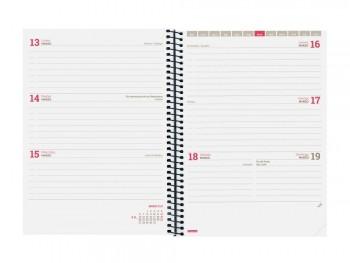 Agenda escolar S/V E10 rojo ESPIR LABEL Finocam castellano